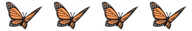 monarch butterfly icons